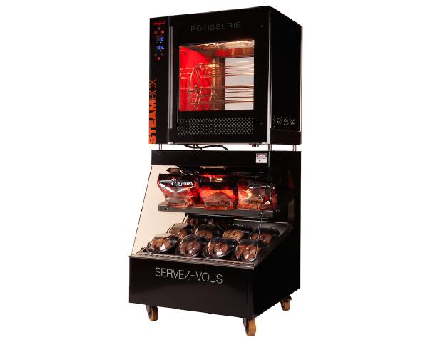 Cette image représente la vente location : une rôtissoire Steambox d'occasion