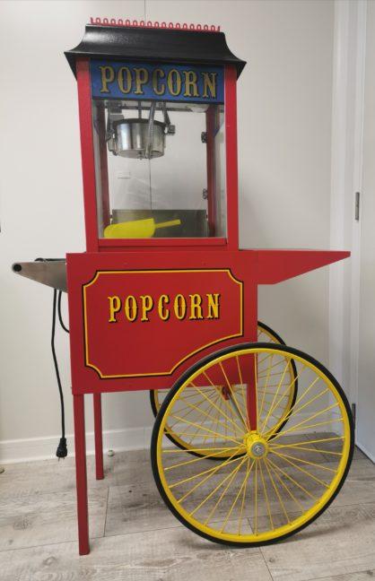 Cette image représente la vente location : une machine à pop corn