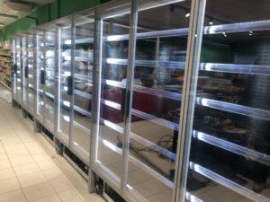 Cette image représente nos réalisations : vitrines réfrigérées