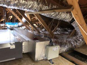 Cette image représente les réalisations de l'installation de climatisation en comble