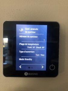 Cette image de réalisations installation d'un thermostat de pilotage de climatisation