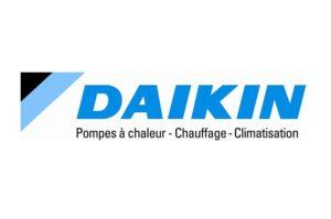 Cette image représente le logo de Daikin pompe à chaleur chauffage réfrigération climatisation partenaire de l'entreprise EFCS