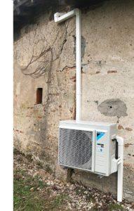 Cette image représente l'installation de la climation chez un particulier