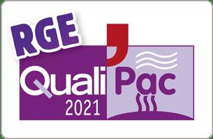 Cette image représente le logo RGE QualiPAC 2021